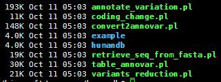 用annovar对snp进行注释