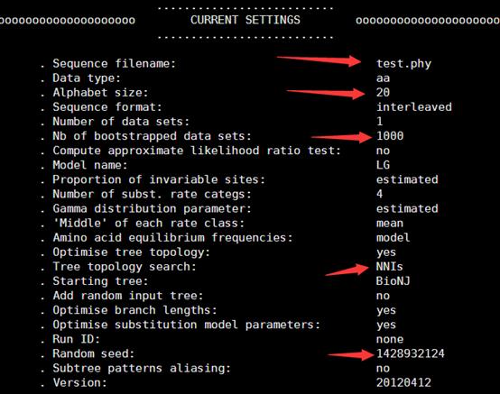 用phyML对多重比对phy文件来构建进化树